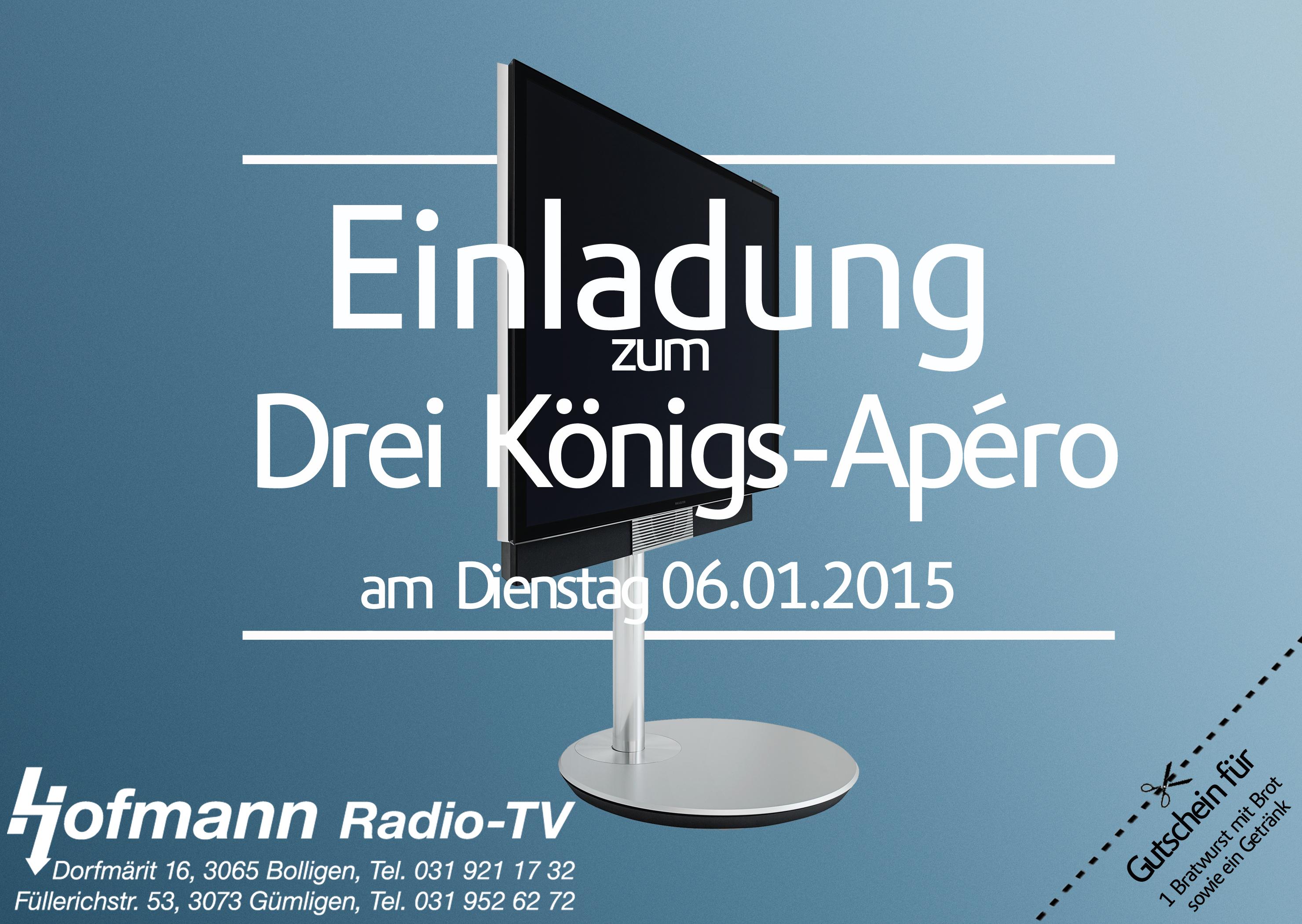 EINLADUNG ZUM DREI-KÖNIGS-APÉRO 2016