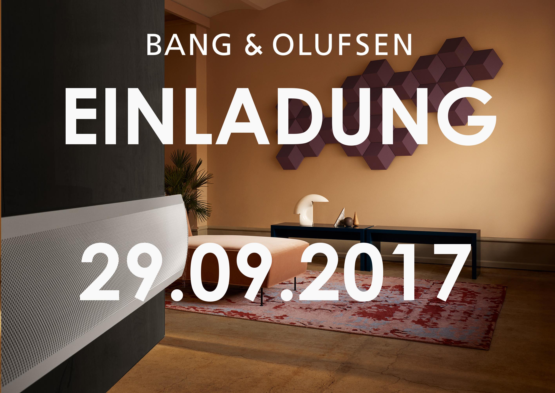 Bang&Olufsen Neuheiten Präsentation am 29.09 von 10.00 Uhr bis 20.00 Uhr