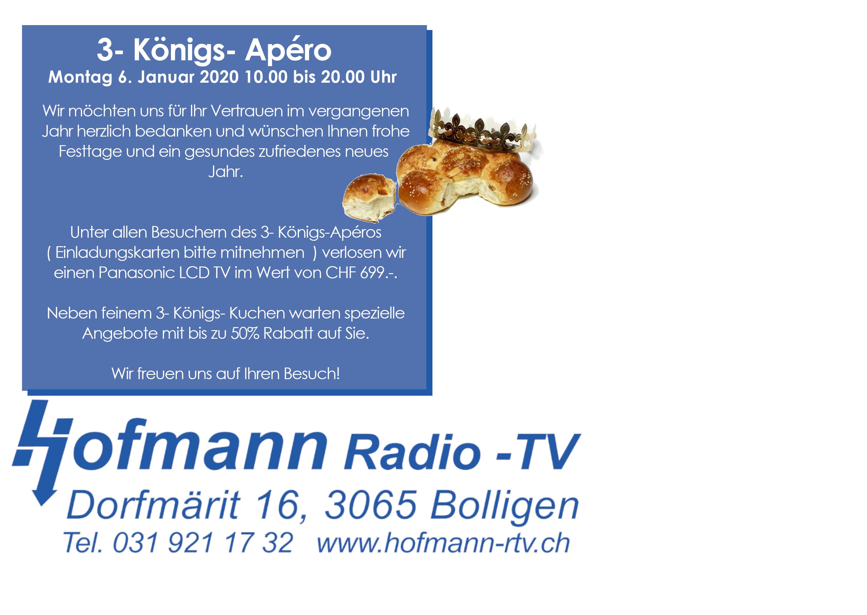 EINLADUNG ZUM 3 KÖNIGS- APREO AM 06.01.2020